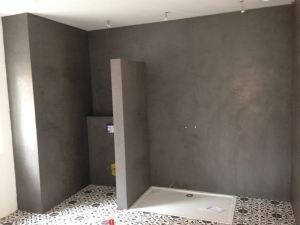 Douchewanden en wc in mortex te Hasselt
